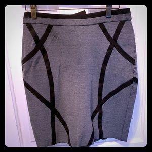 Etcetera black geometric skirt with stretch